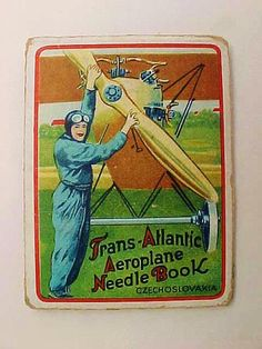 Trans-Atlantic flight needle book