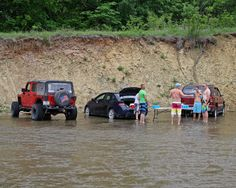 Pillsbury Crossing - a thick limestone bottom of the creek makes this uniquely fun place to park and hang out