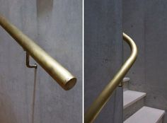 Fixtures and Fittings from a Minimalist Japanese Architect by Julie Carlson_Big Lobe Brass Handrail   Remodelista