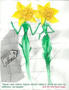 Fashionable Daffodils Unique Settings, Daffodils, Tinkerbell, Author, Silk, Disney Princess, Disney Characters, Drawings, Illustration