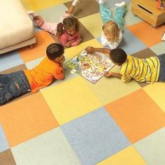 Carpet squares are a great option for creating fun flooring patterns in kids' bedrooms. They're also very easy to install.