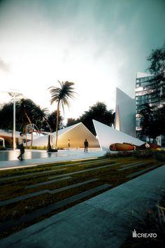POOL EXTERIOR, MACC MODERN ACADEMY CANCUN; DISTRITO CANCÚN BY CREATO #creato #creatolifestyle #DistritoCancun #MACC #luxe #Cancún #architecture #design #mexicanarchitecture #arquitecturamexicana #México