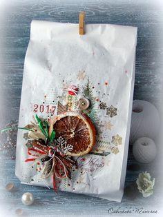 Шарики-бусики...: Новогодняя упаковка подарков. Крафт-пакеты , часть 1.