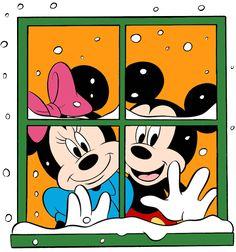 Ideas Drawing Disney Mickey And Minnie Mickey Mouse Christmas, Christmas Fairy, Mickey Mouse And Friends, Christmas Windows, Christmas Ideas, Walt Disney, Disney Mickey, Disney Cartoon Characters, Disney Cartoons