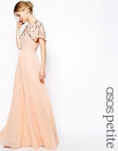 ASOS Petite | ASOS PETITE Embellished Sleeve Pleated Maxi