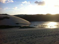 Dunas da praia de Genipabu, RN. Aqui foi gravada a abertura da novela Tieta do Agreste.