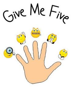 Give Me Five Behavior Management Posters
