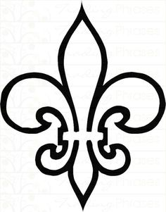fleur de lis stencil | Posted by ClassyFlair at 9:34 AM (Introducing New Products)