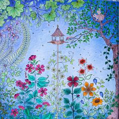 Secret Garden Colouring Book by Johanna Basford.