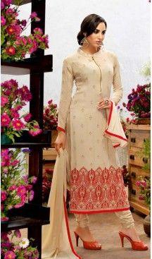 Georgette Fabric Evening Wear Straight Cut Dresses in Beige Color | FH523579299 #pakistani , #evening , #dress , #heenastyle , #party , #wear , #anarkali , #salwar , #kameez , #dupatta , #churidar , #suit , #fashion , #online , #shopping , #casual , #designer , @heenastyle , #store, #shop , #boutique , #straight , #georgette , #fabric
