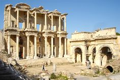 Ephesus is in Western Turkey.  It was an ancient Greek City and later a major Roman City.  It was a religious centre for Christianity and is the most preserved ancient city today.  Walking through the ruins will definitely take you back in time!