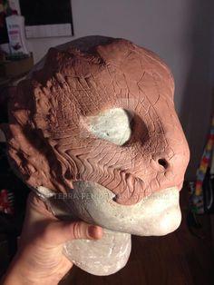 Snakey Half mask by Terra-fen - Cosplay & Helmets , Prosthetic Makeup, Sfx Makeup, Character Inspiration, Character Design, Cosplay Helmet, Reptiles, Monster Makeup, Silicone Masks, Alien Concept Art
