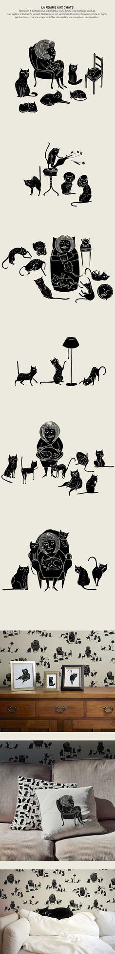 size 40 0a098 5b698 LA FEMME AUX CHATS   The Cat Lady.. Svarta Katter, Galen Kattkvinna,