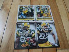 JORDY NELSON JAMES JONES 2013 Panini Score & Absolute (4) Card Lot Packers