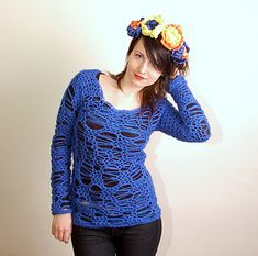 Ravelry: No Stress Sweater pattern by Linda Skuja