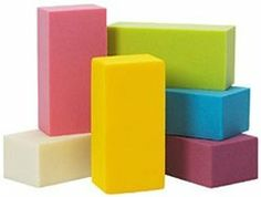 "OASIS Colored Foam Bricks (4 pack) by Smither's. $10.99. Rainbow Colored Foam BricksPolyurethane foam can be used wet or dry.Cut, cube, or carve.Ready to design in 9"" x 4"" x 3"" bricks.Available in 12 colors.Contains 4 bricks per pack. (cannot mix colors per pack)"
