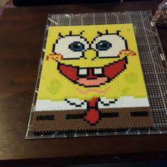 SpongeBob perler beads by anderbeau_