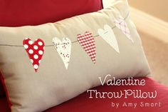 20 + Heart Pillows for Valentines....ready to decorate your rooms? Pillows are a great way to add a few fun spots for the Holidays.