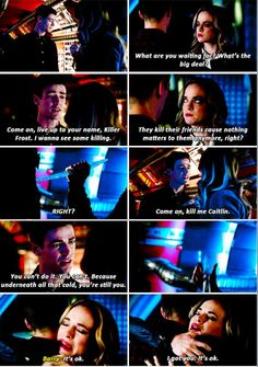 If you wanna leave this room, you're gonna have to kill me.  Don't think I won't do it. #FlashFrost #Snowbarry #TheFlash