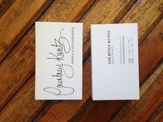 Courtney Kuntz design and illustration. Business cards