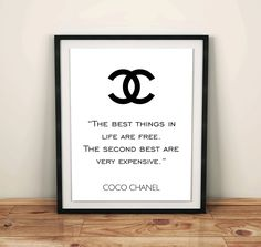 Coco Chanel Logo Chanel home room decor Coco chanel by GrafikShop Logo Chanel, Art Chanel, Chanel Poster, Chanel Decor, Poster On, Poster Wall, Quote Coco Chanel, Printable Quotes, Printable Art