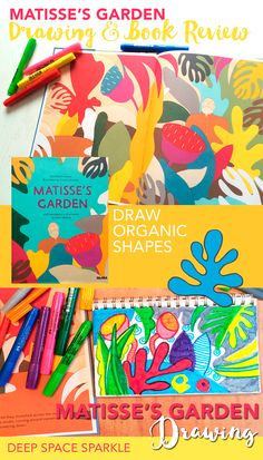 Quick and easy marker art project for kids based on the book Matisse's Garden