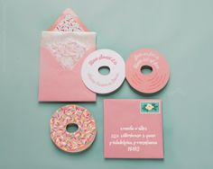 Donut Party Donut Invitation Donut Birthday by PaperBuiltShop