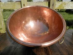 Vintage French Copper Pan. BIG Copper by AngelFrenchAntiques