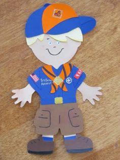 Tiger Cub Scout using Cricut Paper Dolls