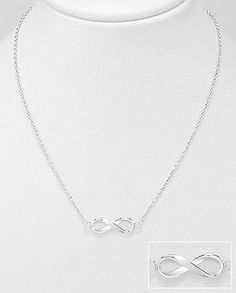 925 sterling silver infinity necklace