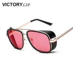 c249089dee0 VictoryLip 2017 Fashion Luxury Super Star Brand Designer Sunglasses lassic  Mirror Round Men Women Cat Eye Sun Glasses Hot Sale -in Sunglasses from  Women s ...