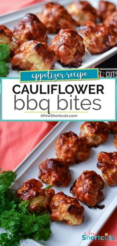 BBQ Cauliflower Bites A delicious way to eat your veggies. This is a must try even if you don't like cauliflower. Check out this yummy BBQ Cauliflower Bites Recipe Vegetarian Grilling, Healthy Grilling Recipes, Barbecue Recipes, Veggie Recipes, Vegetarian Recipes, Cooking Recipes, Barbecue Sauce, Veggie Bbq, Veggie Dinners