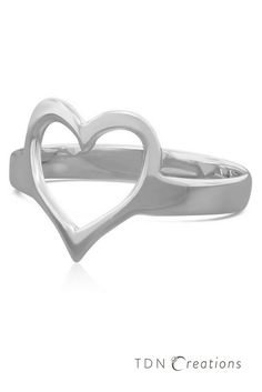 This sterling silver heart ring is simple and timeless.  Heart rings are the perfect representation of everlasting love and long lasting relationships.  Great gift for women, an everyday ring, and a minimalist ring.  This ring is handmade using fine sterling silver material.  The ring can be bright shine or matte finish and customized to your size.
