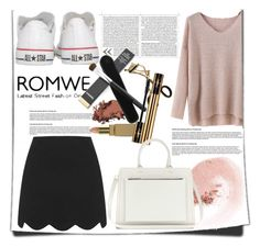 """""""romwe sweater"""" by katienochvay on Polyvore featuring Topshop, NARS Cosmetics, Converse and Victoria Beckham"""