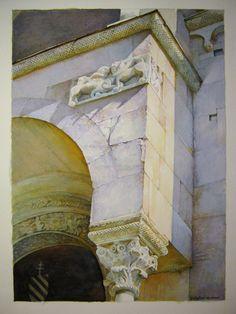 Duomo di Modena particolare della porta pontificia
