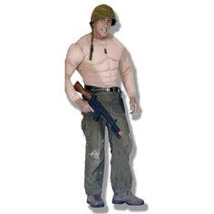Disfraz de Torso musculoso.  Si siempre has querido tener un pecho musculoso, un pecho a lo rambo, aqui tienes la solución.  Una camisa con mucho músculo, para ir a pecho descubierto o debajo de tu disfraz preferido.