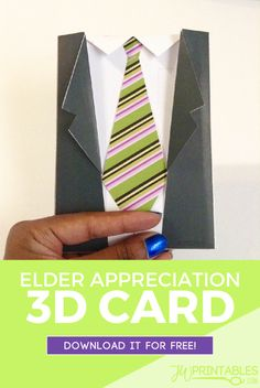 3D JW Elder Appreciation Card   JW Printables