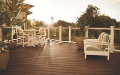 At greatrailing.com we offer Trex decking! Contact us today for more information.  Deck Ideas | Deck Designs & Pictures | Patio Designs | Trex