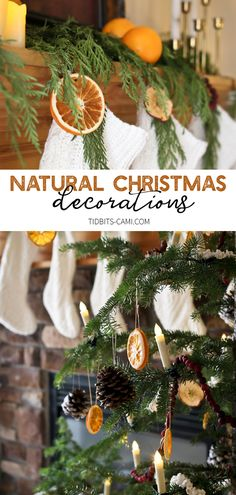 natural christmas tree Be inspired to use Natural Christmas Decorations - dried oranges, apples, cranberry strings, popcorn strings, pinecones and fresh greenery. Natural Christmas Tree, Red And Gold Christmas Tree, Vintage Christmas, Australian Christmas Tree, Victorian Christmas, Minimal Christmas, Simple Christmas, Christmas Holidays, Christmas Oranges