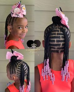 Brick Lay Braids and Beads! Booking Link In Bio! Brick Lay Braids and Beads! Booking Link In Bio! Box Braids Hairstyles, Lil Girl Hairstyles, Black Kids Hairstyles, Kids Braided Hairstyles, Hairstyles 2018, Hairstyle Ideas, Little Girls Natural Hairstyles, African Hairstyles, Protective Styles