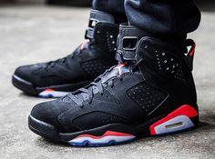Air Jordan 6 Black/Infrared Retro 2014 Air Jordan Vi, Air Jordan Shoes, Sneakers Fashion, Sneakers Nike, Authentic Jordans, Hype Shoes, Jordan Outfits, Classic Sneakers, Adidas