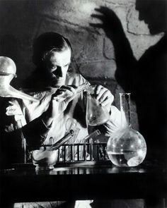 Colin Clive in a publicity still for Frankenstein (1931)