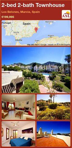 2-bed 2-bath Townhouse in Los Belones, Murcia, Spain ►€199,995 #PropertyForSaleInSpain