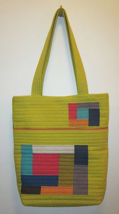 front of green quilted bag by bananaphone, via Flickr