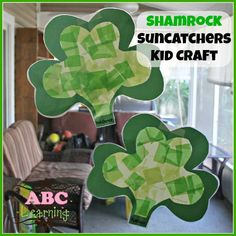 Shamrock Suncatchers Kid Crafts