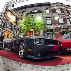 Check out this Menacing #Challenger at the Montreal Grand Prix #yeg #ymm #shpk #awesome #Dodge