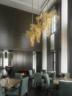 Flight Search Chicago Photography Wood Paneling Veneer Hospitality Design Hanging Lights Awards Light Fixtures Lighting