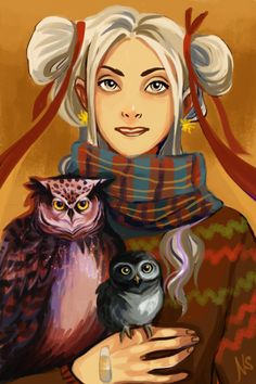 Luna Lovegood by nastjastark<--- It's Luna Lovegood, but I'm also thinking of Annabeth, from Percy Jackson... nicely done.