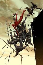 """Daredevil vs """"The Hand"""" by Frank Quitely"""