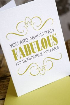 Thank you cards for clients. Win! I'd love to make some smart ass greeting cards too